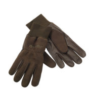 Deerhunter fleece gloves with leather