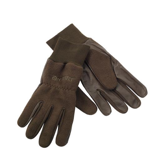 Deerhunter fleece gloves with leather